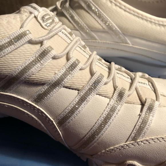 Skechers Shoes | Glitter Tennis | Poshmark